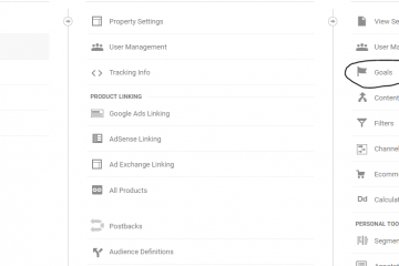 Google Analytics Goal Set Up Step 1